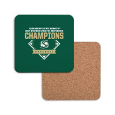Hardboard Coaster w/Cork Backing-2017 Western Athletic Conference Baseball Champions