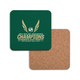 Hardboard Coaster w/Cork Backing-2017 Big Sky Conference Mens Outdoor Track and Field Champions