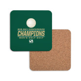 Hardboard Coaster w/Cork Backing-2017 Big Sky Conference Mens Golf