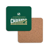 Hardboard Coaster w/Cork Backing-2017 Big Sky Conference Womens Golf