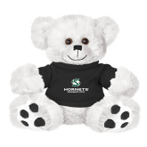 Plush Big Paw 8 1/2 inch White Bear w/Black Shirt-Official Logo