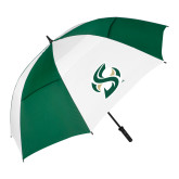 62 Inch Forest Green/White Umbrella-S Mark