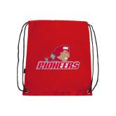 Red Drawstring Backpack-Pioneers w/ Pioneer