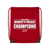 Red Drawstring Backpack-2018 Womens Hockey Champions