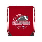 Red Drawstring Backpack-2018 NEC Football Champions