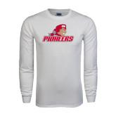 White Long Sleeve T Shirt-Pioneers w/ Pioneer