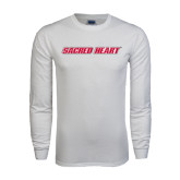 White Long Sleeve T Shirt-Sacred Heart