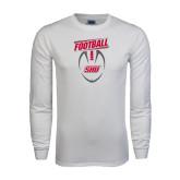 White Long Sleeve T Shirt-SHU Football