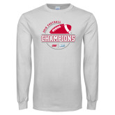 White Long Sleeve T Shirt-2018 NEC Football Champions