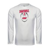 Performance White Longsleeve Shirt-SHU Football