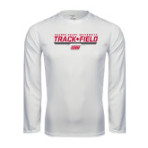 Syntrel Performance White Longsleeve Shirt-Track & Field w/ Bar