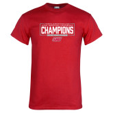 Red T Shirt-2018 Womens Outdoor Track and Field Champions