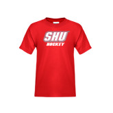 Youth Red T Shirt-Hockey