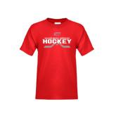 Youth Red T Shirt-SHU Hockey Crossed Sticks