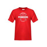 Youth Red T Shirt-Pioneers Baseball Seams