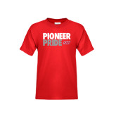Youth Red T Shirt-Pioneer Pride