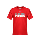 Youth Red T Shirt-Fear The Pioneers