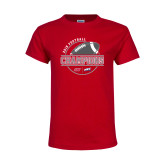 Youth Red T Shirt-2018 NEC Football Champions