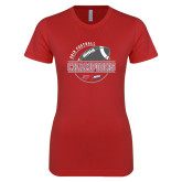 Next Level Ladies SoftStyle Junior Fitted Red Tee-2018 NEC Football Champions