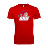 Next Level SoftStyle Red T Shirt-Secondary Logo