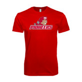 Next Level SoftStyle Red T Shirt-Pioneers w/ Pioneer