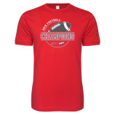 Next Level SoftStyle Red T Shirt-2018 NEC Football Champions