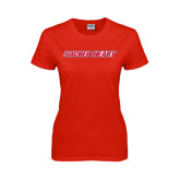 Ladies Red T Shirt-Sacred Heart