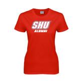 Ladies Red T Shirt-Alumni