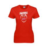 Ladies Red T Shirt-SHU Football