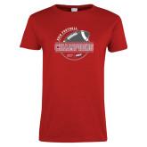 Ladies Red T Shirt-2018 NEC Football Champions