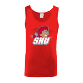 Red Tank Top-Secondary Logo
