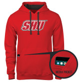 Contemporary Sofspun Red Hoodie-Primary Logo