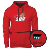 Contemporary Sofspun Red Hoodie-Secondary Logo