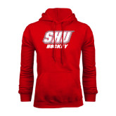 Red Fleece Hoodie-Hockey