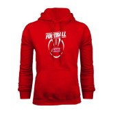 Red Fleece Hoodie-SHU Football