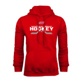 Red Fleece Hoodie-SHU Hockey Crossed Sticks
