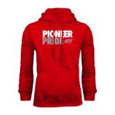 Red Fleece Hoodie-Pioneer Pride