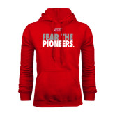 Red Fleece Hoodie-Fear The Pioneers