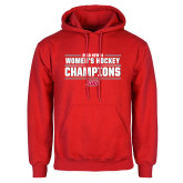 Red Fleece Hoodie-2018 Womens Hockey Champions