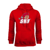 Red Fleece Hoodie-Secondary Logo