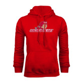 Red Fleece Hoodie-Sacred Heart w/ Pioneer