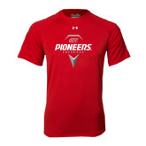 Under Armour Red Tech Tee-Pioneers Geometric Lacrosse Head