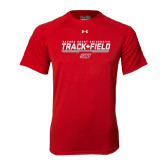 Under Armour Red Tech Tee-Track & Field w/ Bar