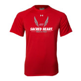 Under Armour Red Tech Tee-Sacred Heart Track & Field Abstract Wings