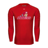Under Armour Red Long Sleeve Tech Tee-Pioneers w/ Pioneer