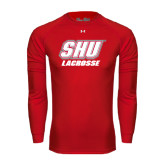 Under Armour Red Long Sleeve Tech Tee-Lacrosse
