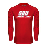 Under Armour Red Long Sleeve Tech Tee-Track & Field