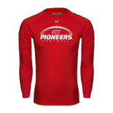 Under Armour Red Long Sleeve Tech Tee-Pioneers Football Horizontal