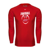 Under Armour Red Long Sleeve Tech Tee-SHU Football