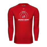 Under Armour Red Long Sleeve Tech Tee-Sacred Heart Basketball Stacked